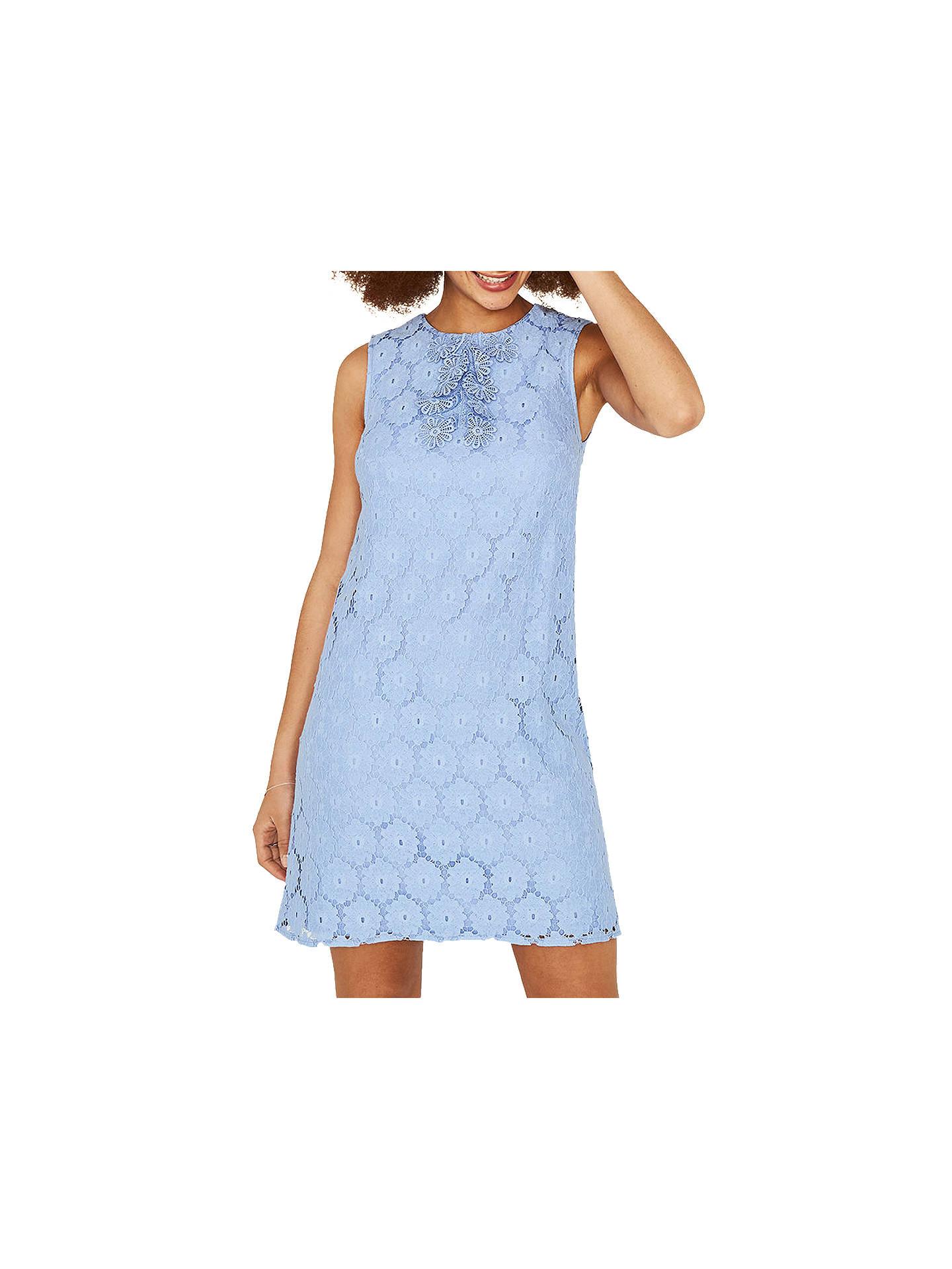 79da5c77cda3 Buy Oasis Daisy Lace Dress, Light Blue, XS Online at johnlewis.com ...