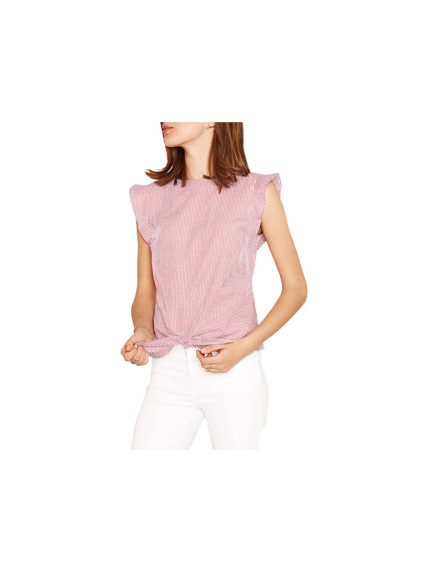 b60f563e5eb5b7 Buy Oasis Ticking Stripe Tie Front T-Shirt