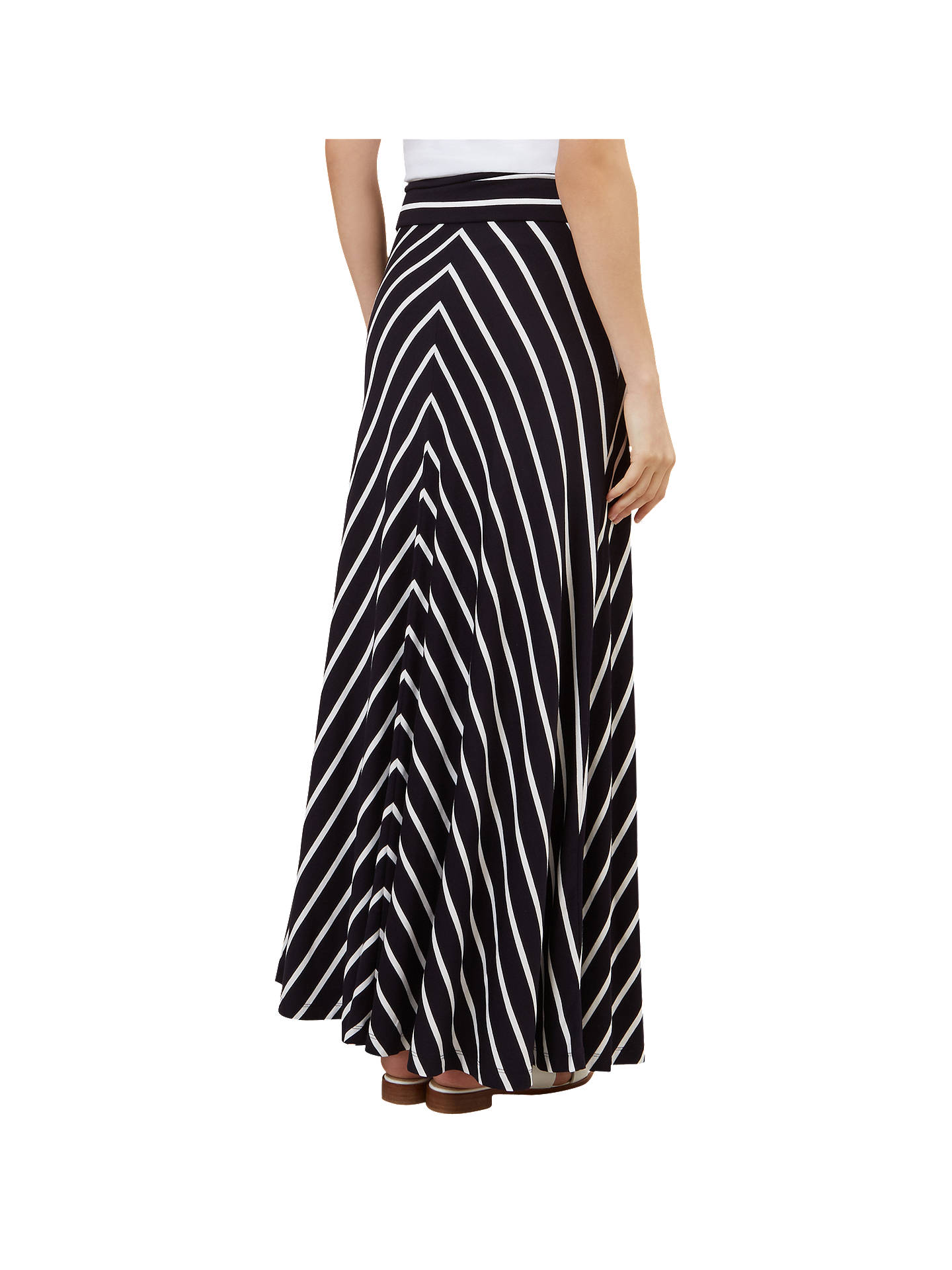 100% quality quarantee luxury fashion hot new products Hobbs Iris Striped Maxi Skirt, Navy/White at John Lewis ...