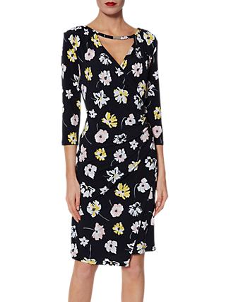 Gina Bacconi Keri Floral Jersey Dress, Navy/Multi