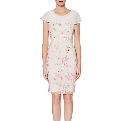 Gina Bacconi Mimi Embroidered Dress, Neutral