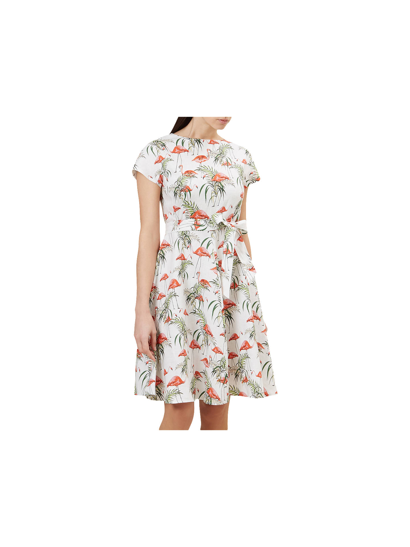 b47bf8a3a13 Buy Hobbs Sorrento Flamingo Print Flared Dress