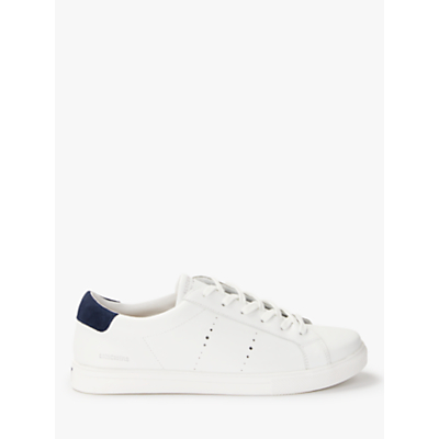 Skechers Moda Walk Street Lace Up Trainers, White Leather