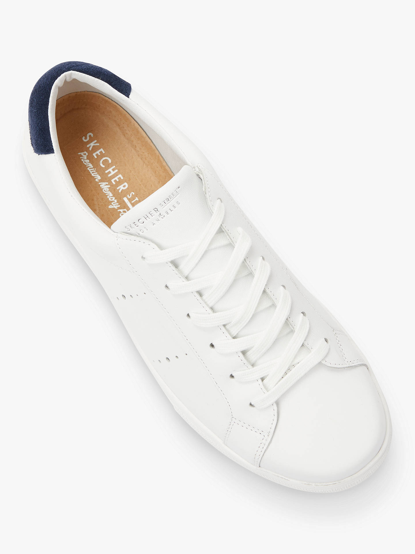 Buy Skechers Moda Walk Street Lace Up Trainers, White Leather, 7 Online at johnlewis.com