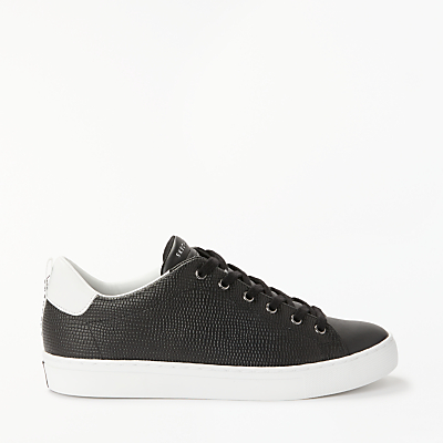 Skechers Side Street Tegu Lace Up Trainers, Black Leather