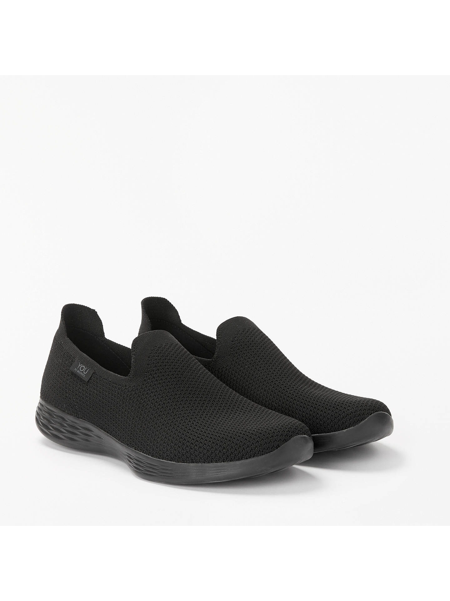 Buy Skechers You Define Slip On Trainers, Black, 6 Online at johnlewis.com