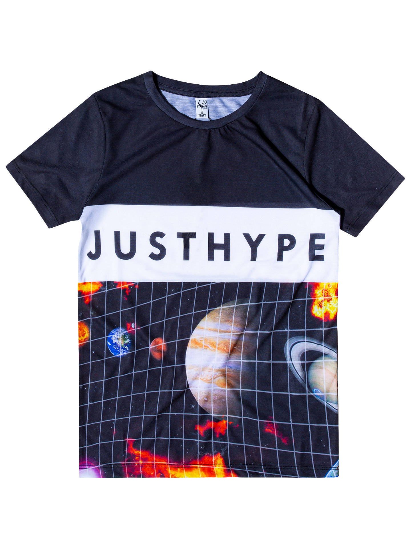 76e892f2 Hype Boys' Planets Print T-Shirt, Black/Multi at John Lewis & Partners