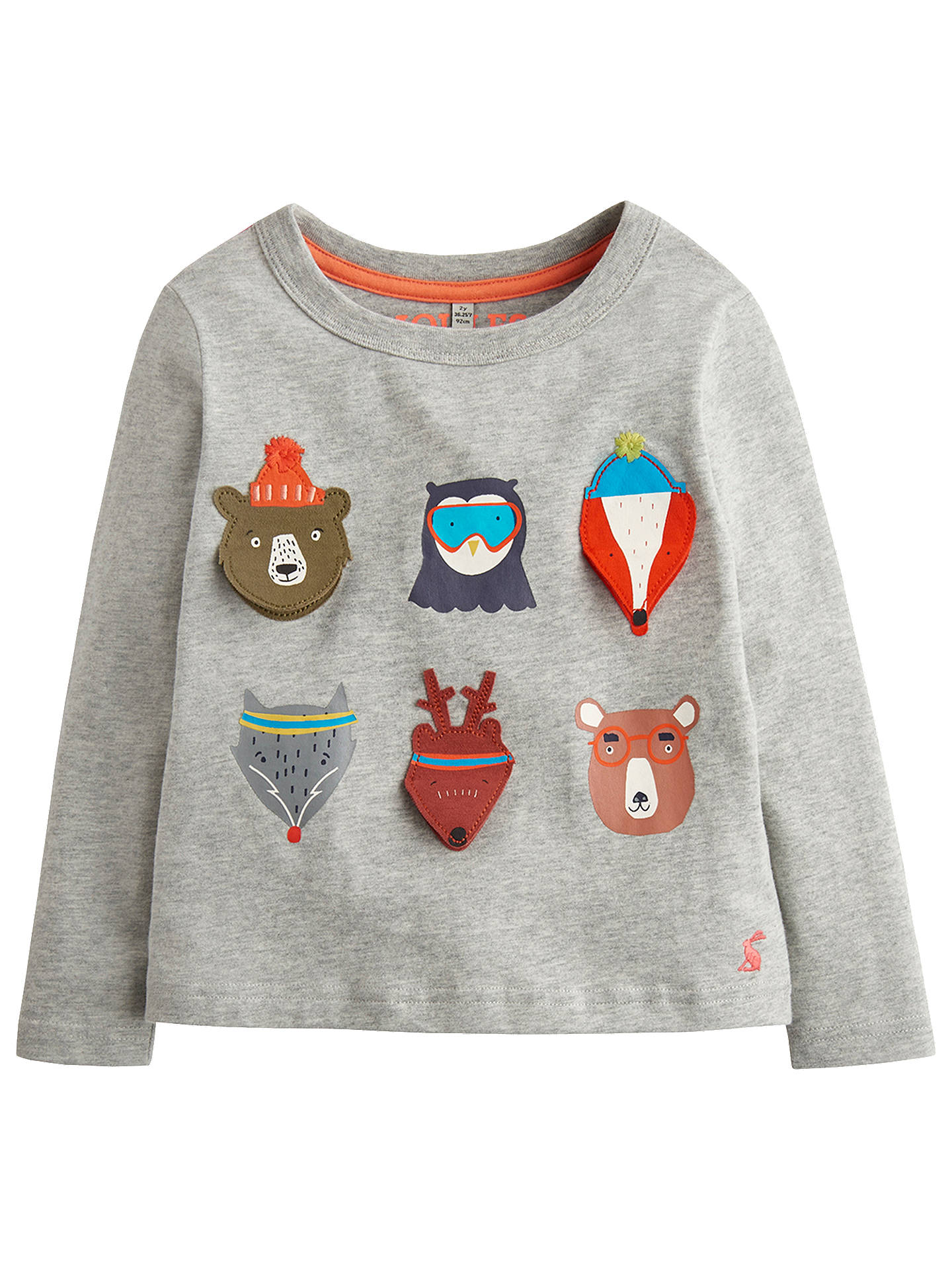 09efd06a9 Little Joule Boys' Chomp Animal T-Shirt, Grey at John Lewis & Partners