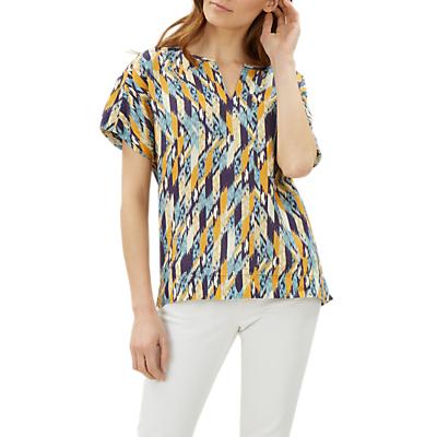 Jaeger Abstract Check Print T-Shirt, Blue/Yellow