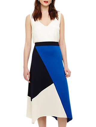 Phase Eight Cassandra Colour Block Skirt, Blue/Multi