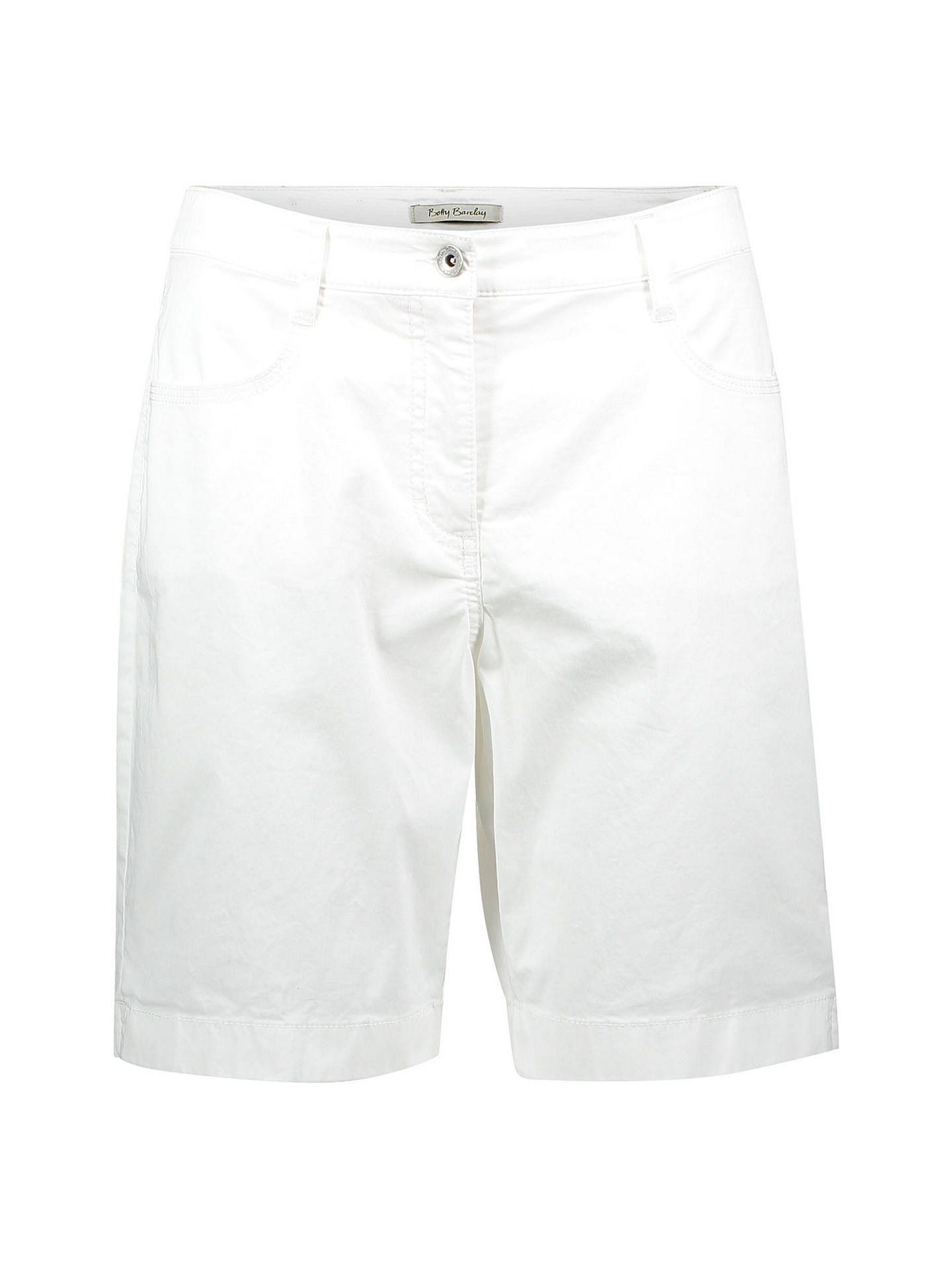 Buy Betty Barclay Cotton Shorts, Bright White, 8 Online at johnlewis.com