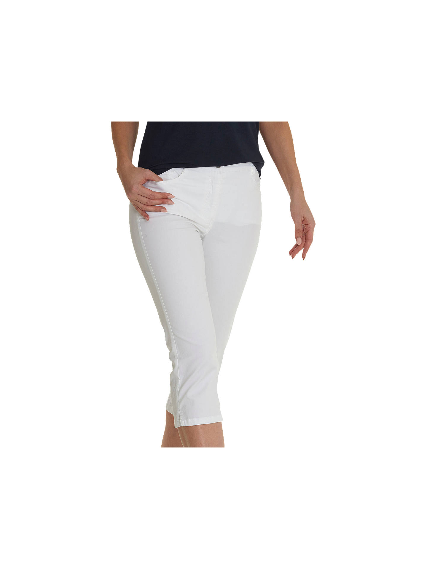 BuyBetty Barclay Cropped Slim Jeans, Bright White, 18 Online at johnlewis.com