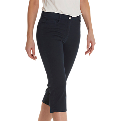 Betty Barclay Cropped Slimline Jeans, Dark Sky