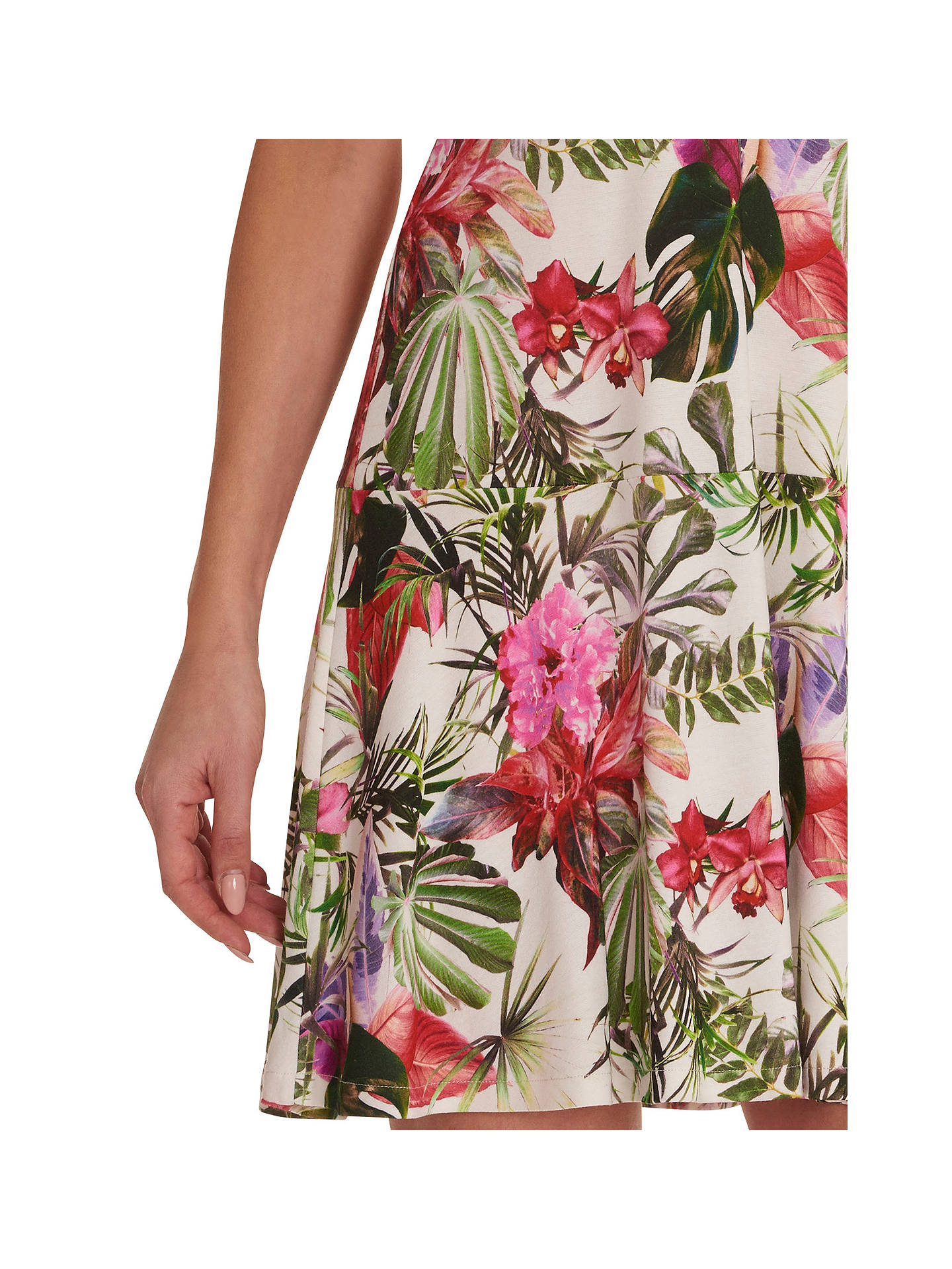 BuyBetty Barclay Floral Print Dress, Cream/Red, 12 Online at johnlewis.com