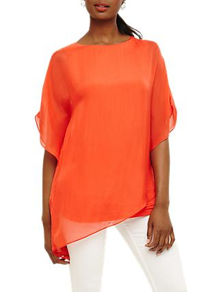 Phase Eight Harper Silk Blouse, Orange