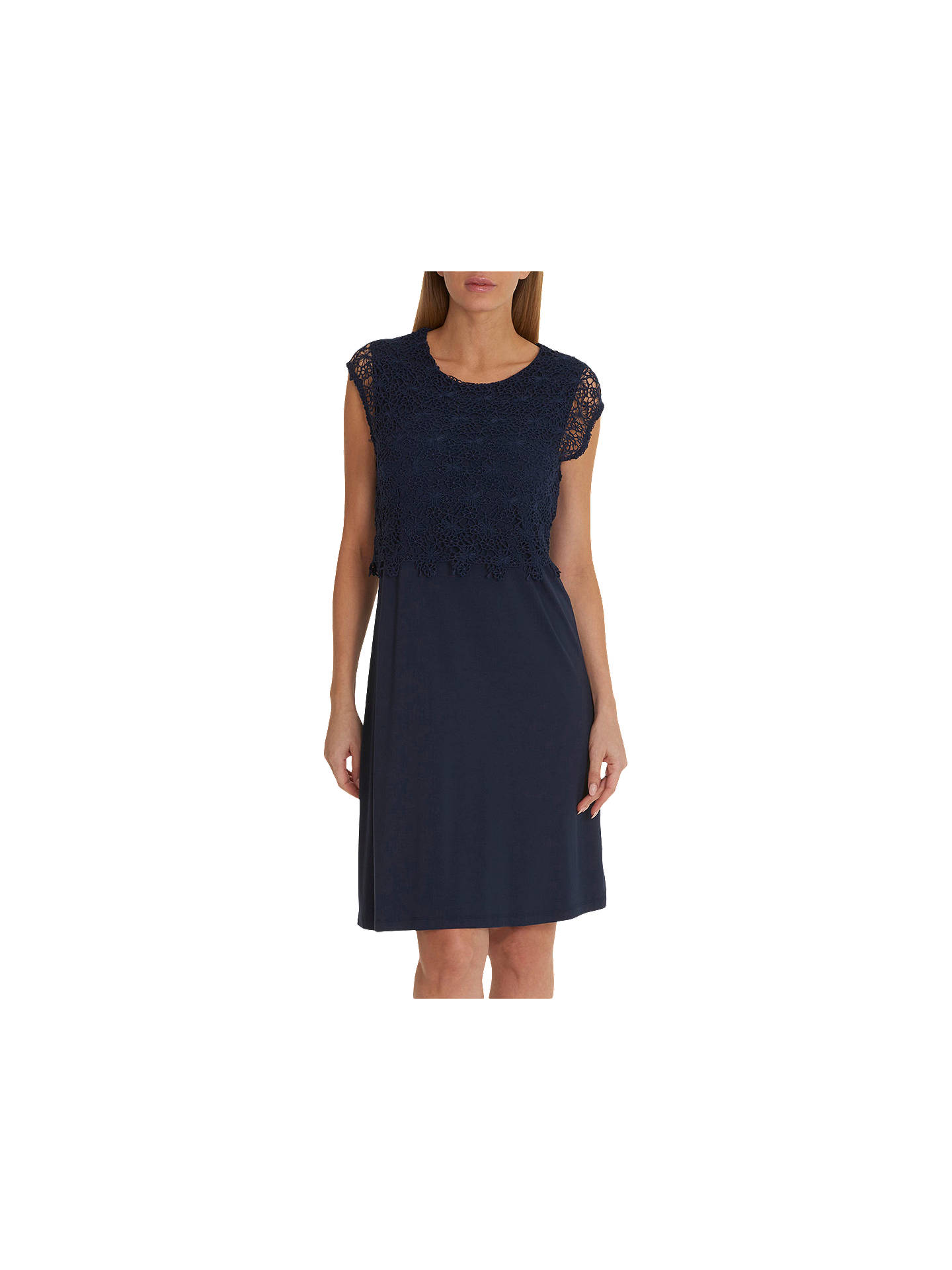 BuyBetty Barclay Lace Top Dress, Peacoat Blue, 14 Online at johnlewis.com