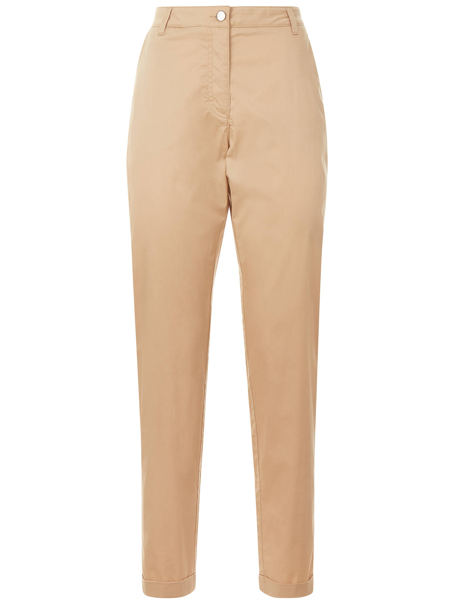 BuyJaeger Paperweight Chino Trousers, Stone, 6 Online at johnlewis.com