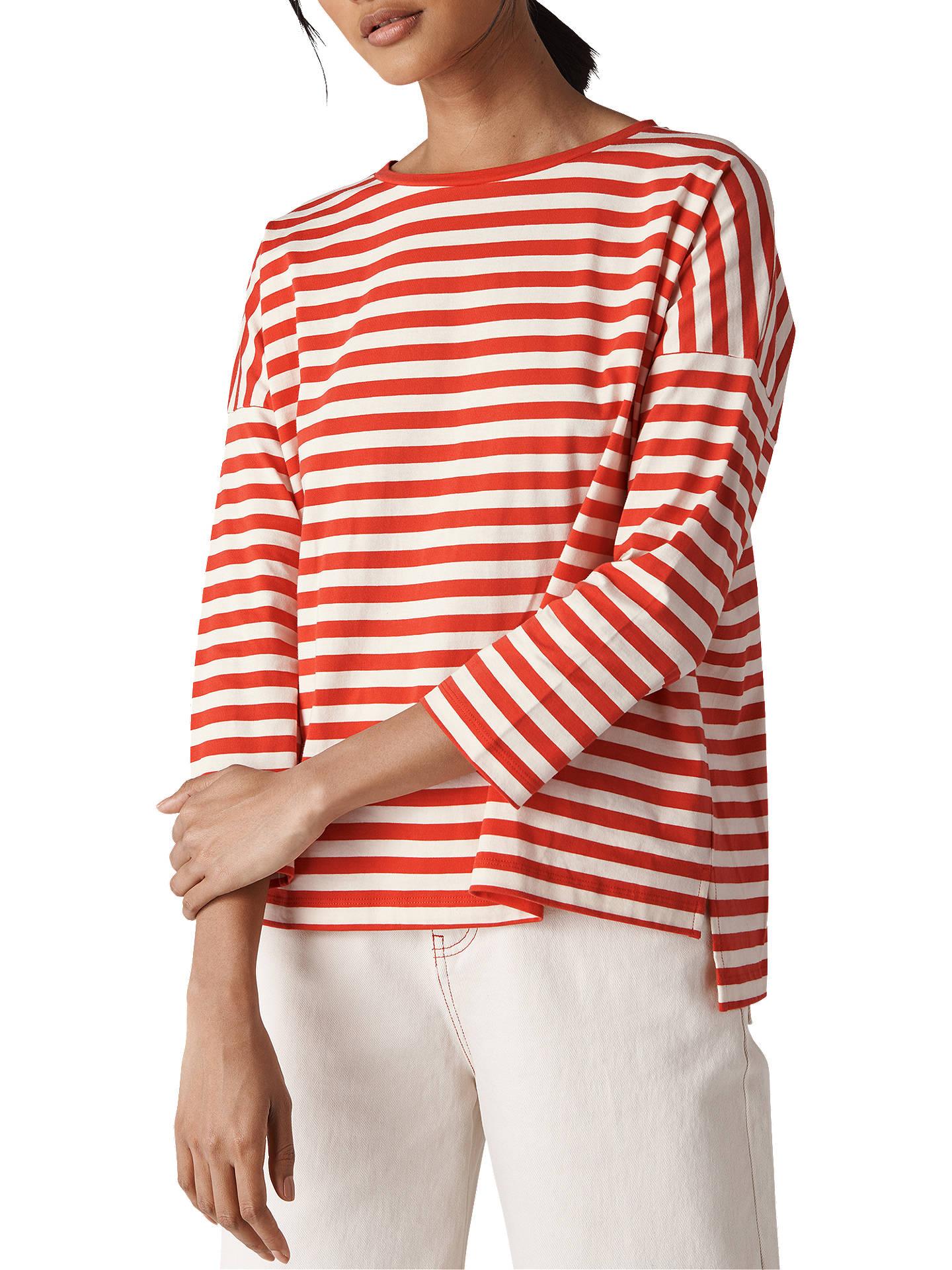 99311af2ef8b Whistles Wide Stripe Boxy T-Shirt