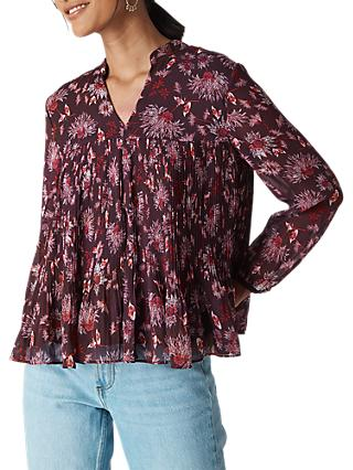 Whistles Pitti Print Blouse, Pink/Multi