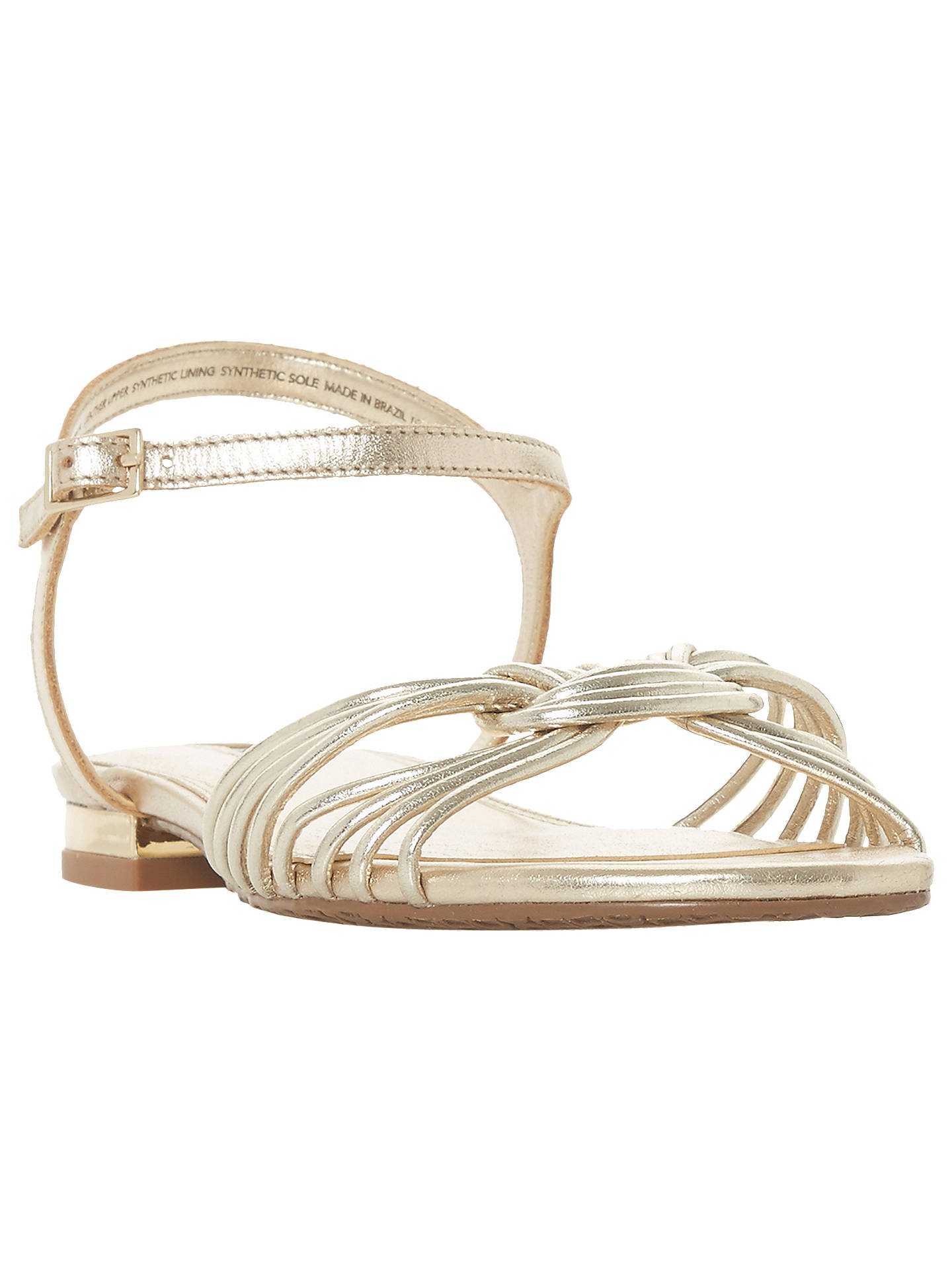 BuyDune Napa Sandals, Gold, 3 Online at johnlewis.com
