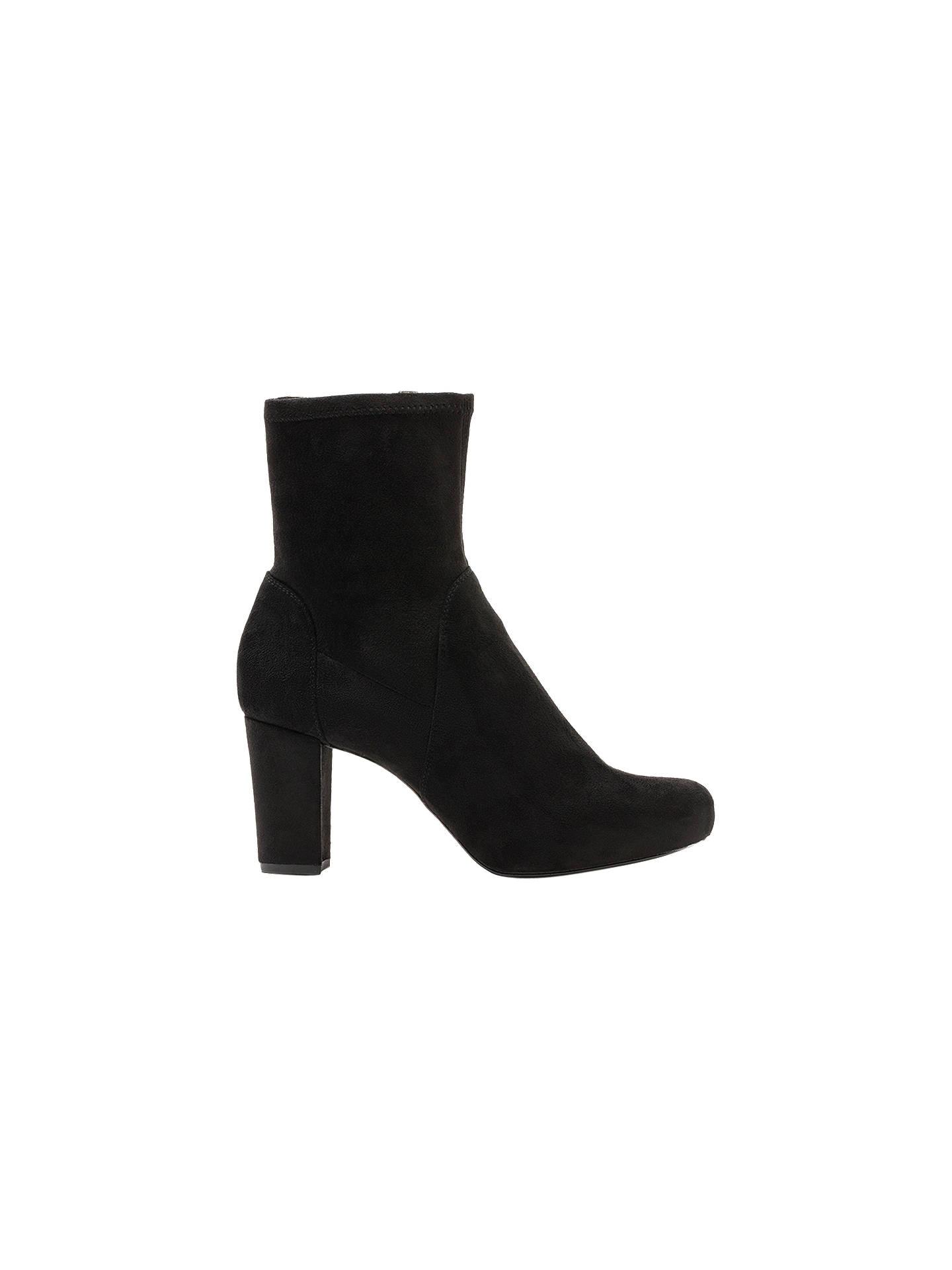 1d65e69cc Buy Unisa Nafre Block Heel Ankle Boots, Black, 4 Online at johnlewis.com ...