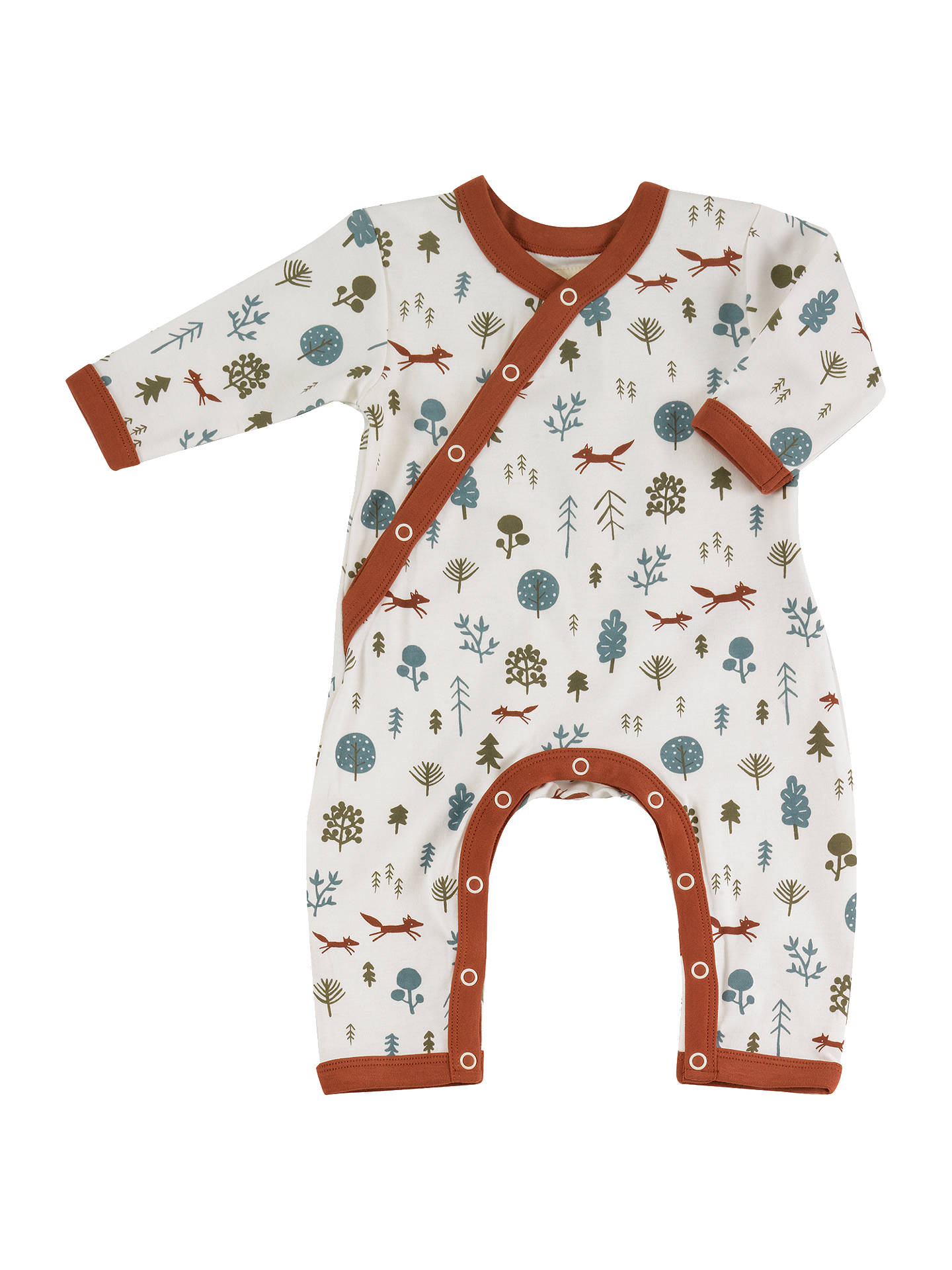 Buy Pigeon Organics Baby GOTS Organic Cotton Nordic Forest Print Romper, Multi, Newborn Online at johnlewis.com