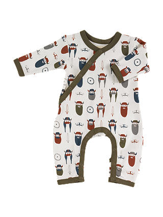 Buy Pigeon Organics Baby GOTS Organic Cotton Viking Print Romper, Multi, 3-6 months Online at johnlewis.com