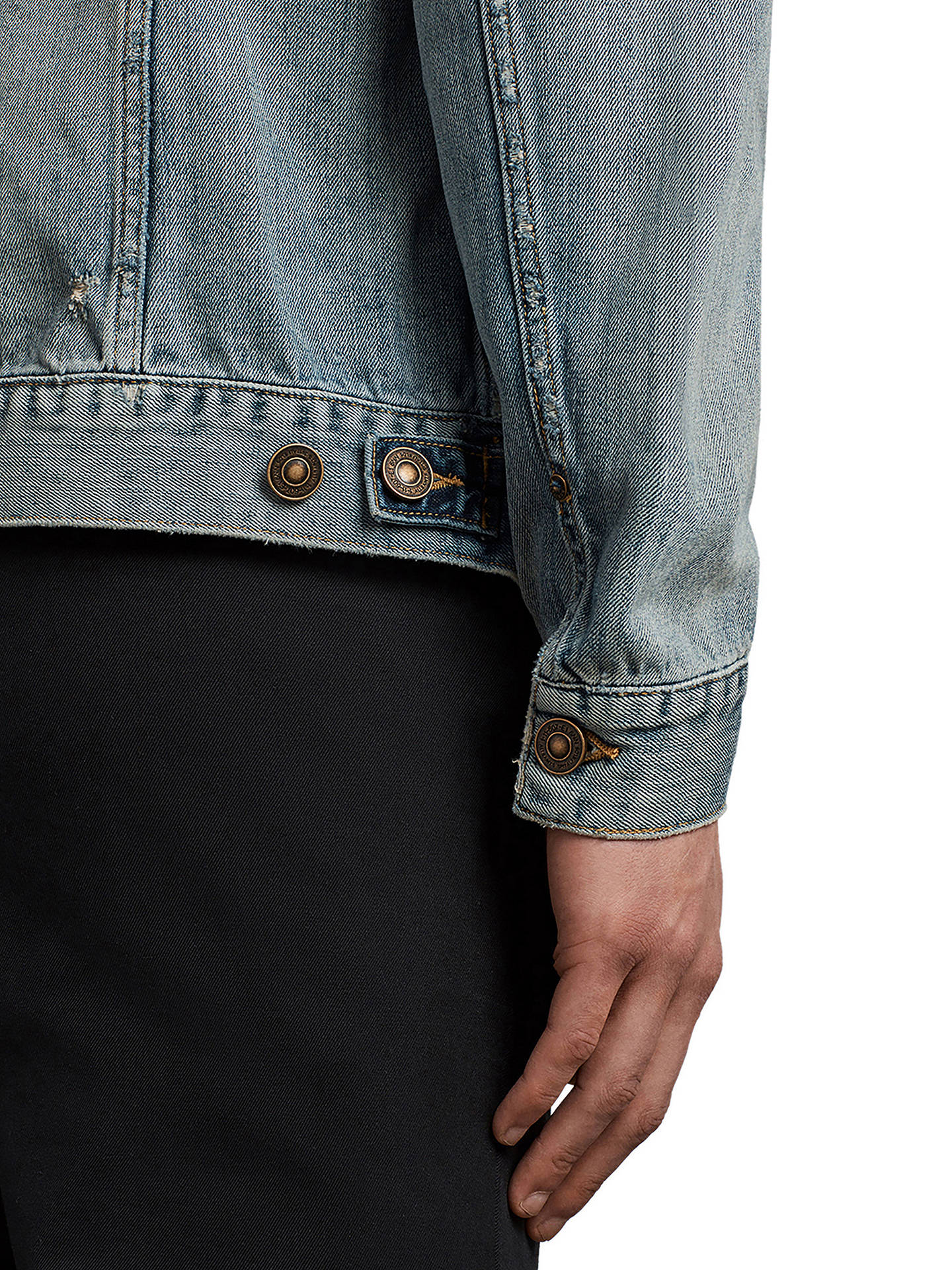 BuyAllSaints Inverness Denim Jacket, Indigo, XS Online at johnlewis.com