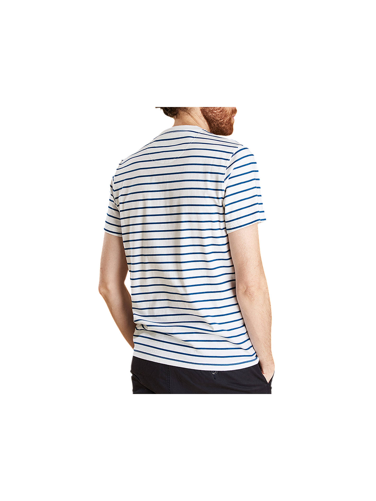 BuyBarbour Tow Stripe T-Shirt, White, M Online at johnlewis.com