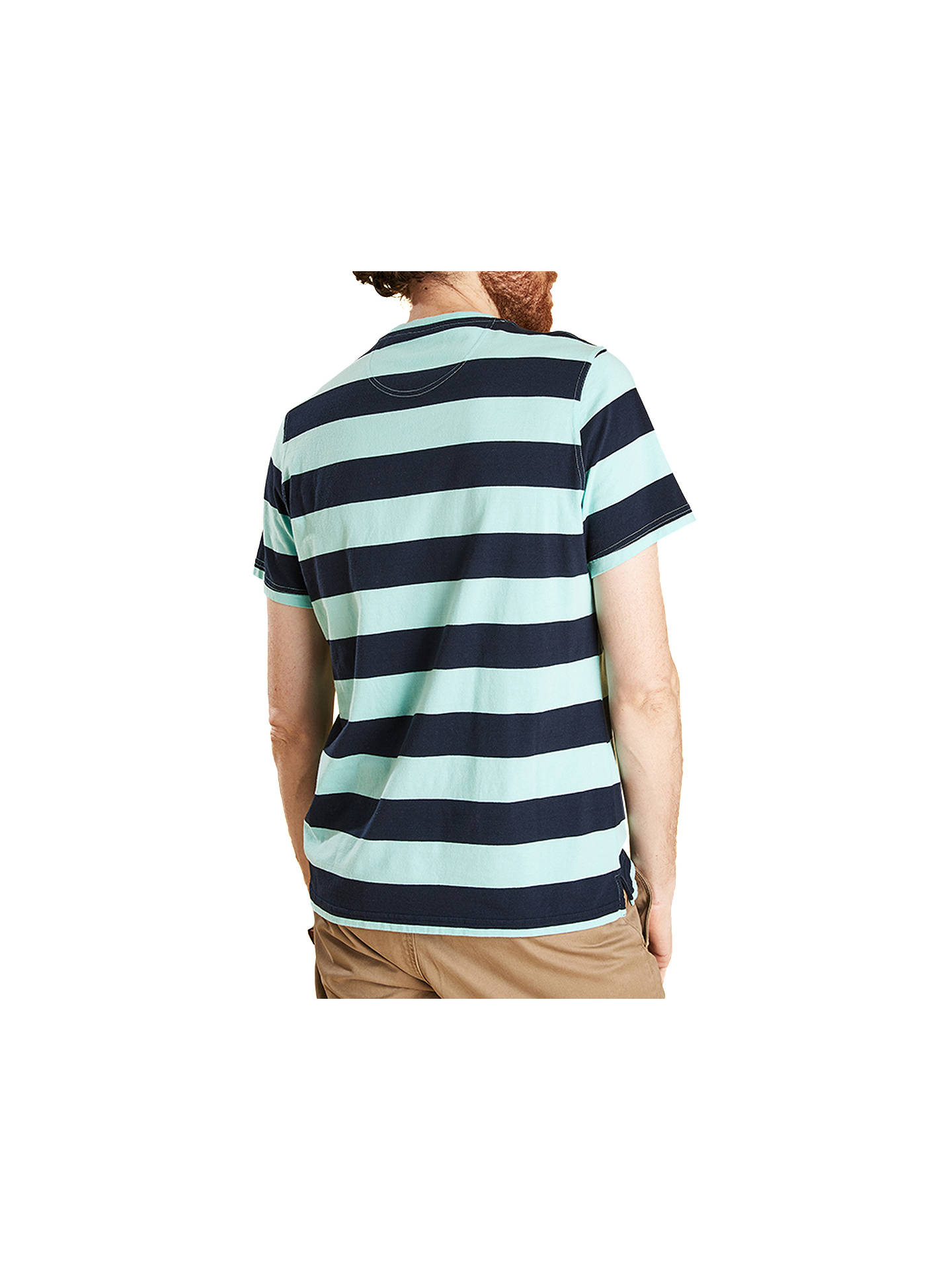 Buy Barbour Bass Short Sleeve Stripe T-Shirt, Aquamarine, S Online at johnlewis.com