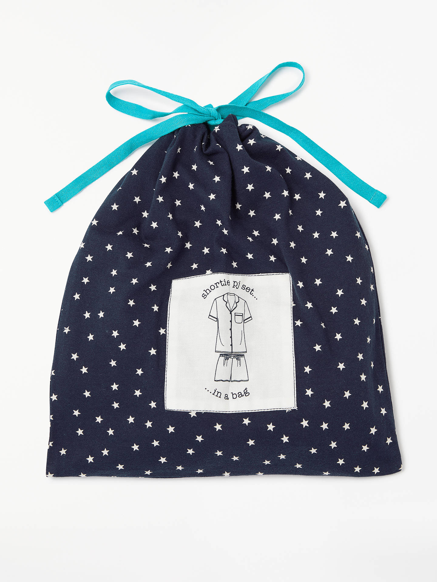 Buy John Lewis & Partners Etienne Star Print Shorts Pyjama Set With Bag, Blue/Turquoise, 8 Online at johnlewis.com