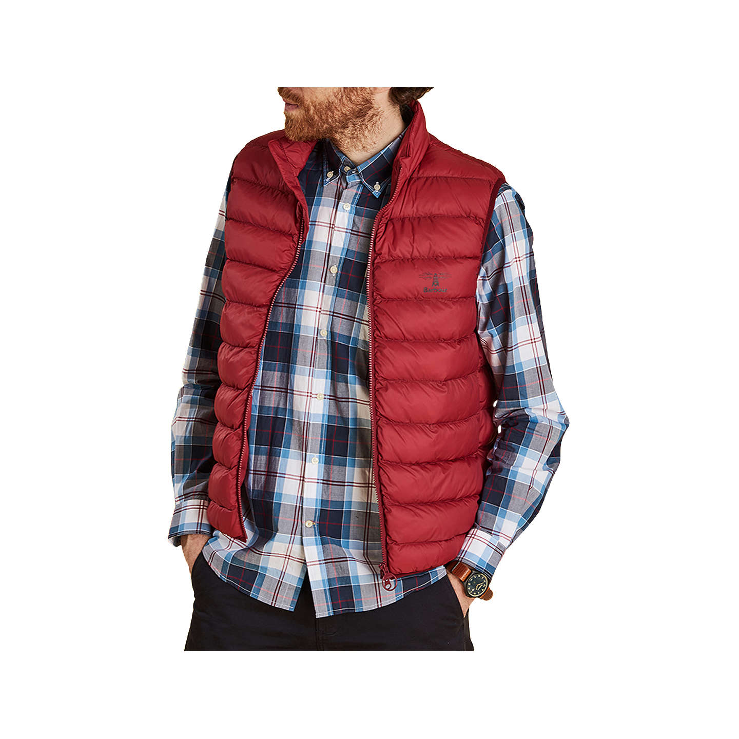 BuyBarbour Askham Padded Gilet, Red, S Online at johnlewis.com