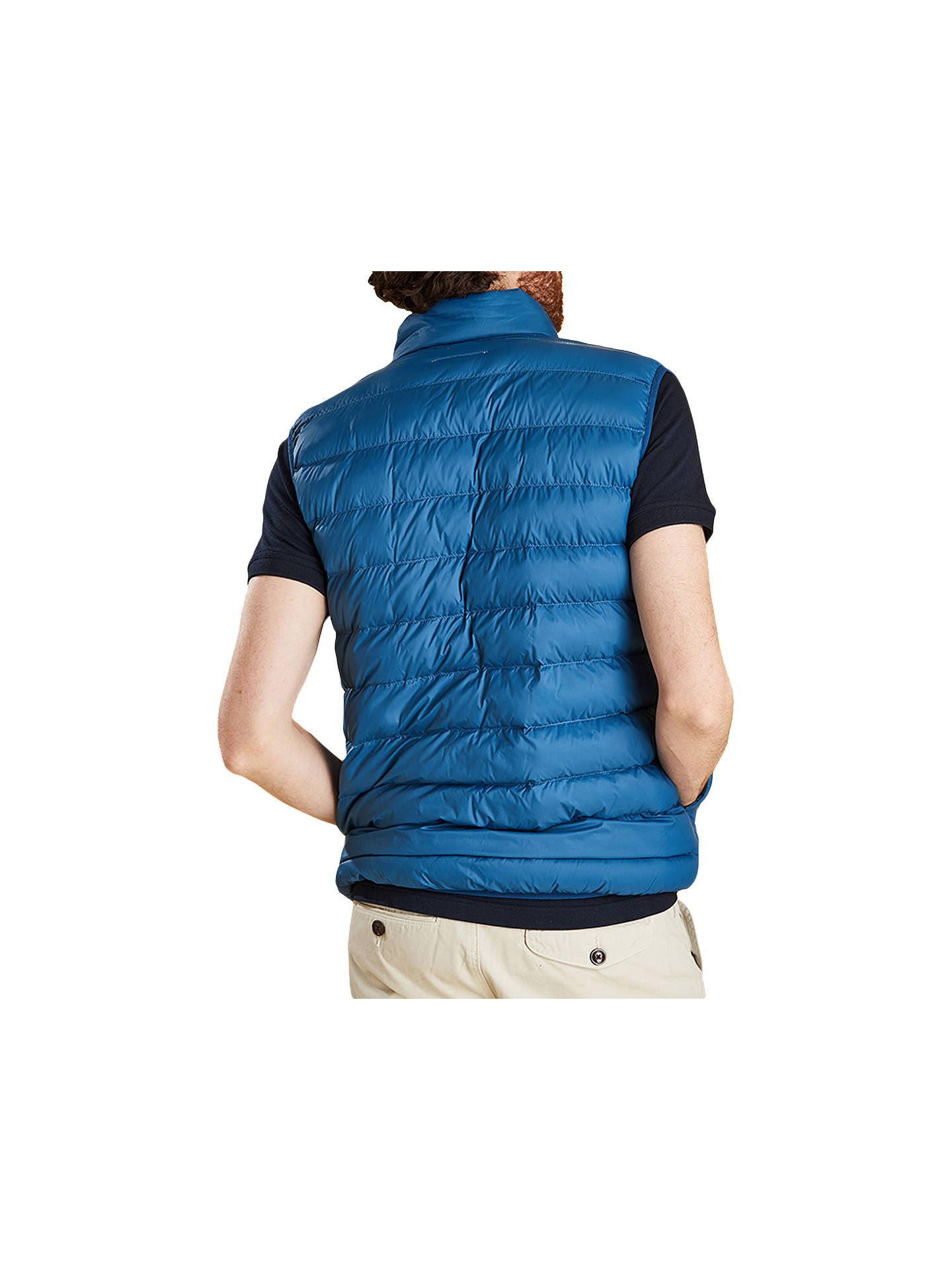 Buy Barbour Askham Padded Gilet, Blue, L Online at johnlewis.com