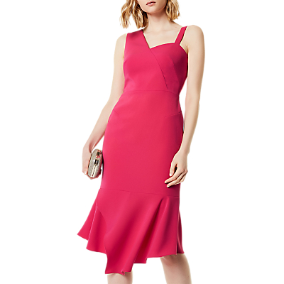 Karen Millen One Shoulder Dress, Fuschia