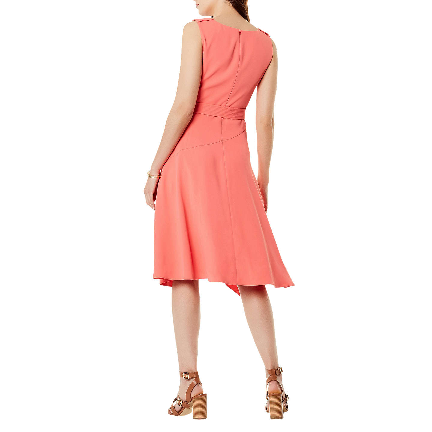 BuyKaren Millen Fluid Day Dress, Coral, 6 Online at johnlewis.com