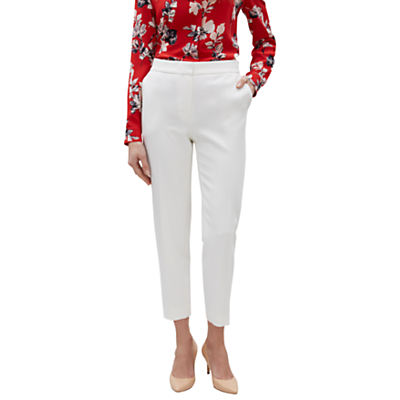 Jaeger 7/8 Colette Tapered Trousers, Ivory