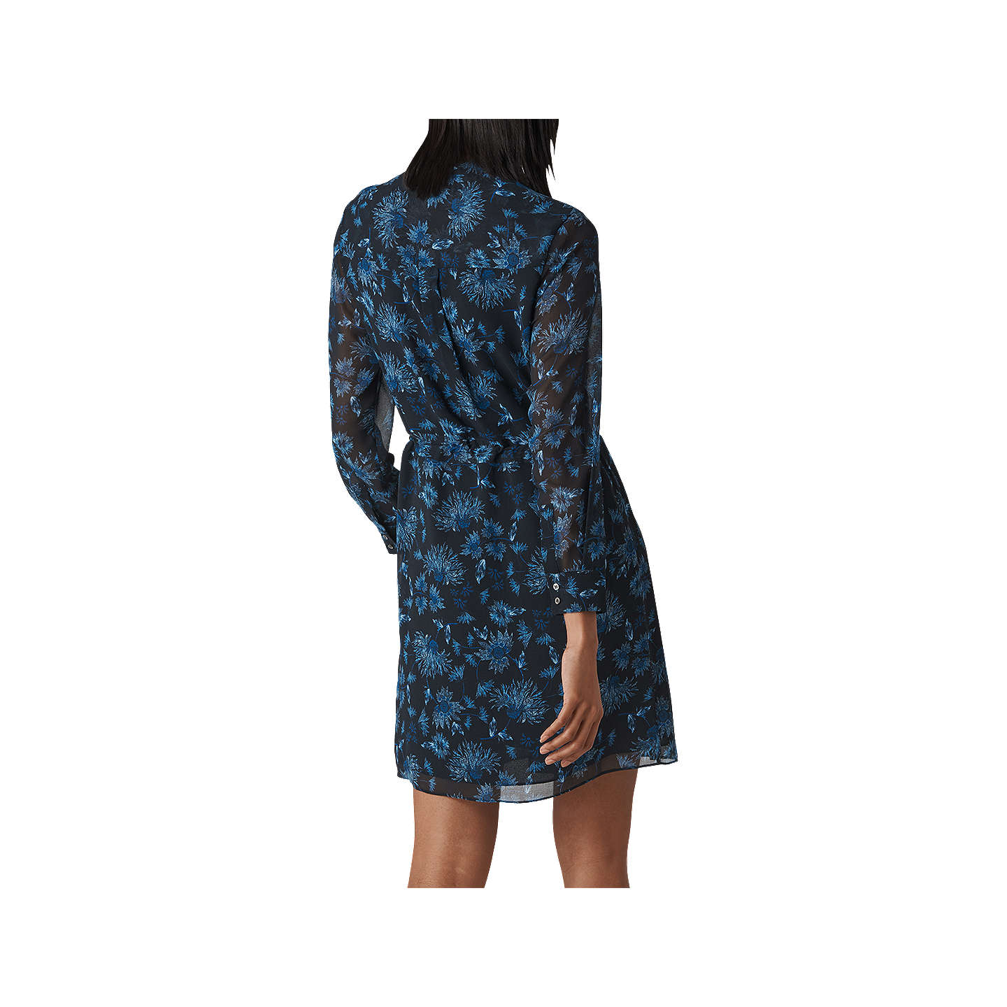 Pitti Whistles Multi Shirt Dress Blue Print Fhwyhxd Dine