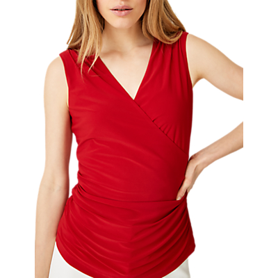 Damsel in a Dress Aurelie Wrap Jersey Top, Red