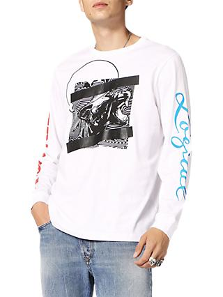 Diesel T-Just Long Sleeve Graphic Print T-Shirt