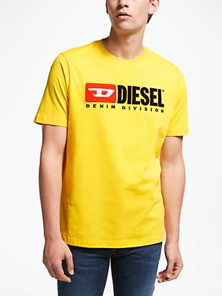 Diesel T-Just Division Short Sleeve Logo T-Shirt, Yellow