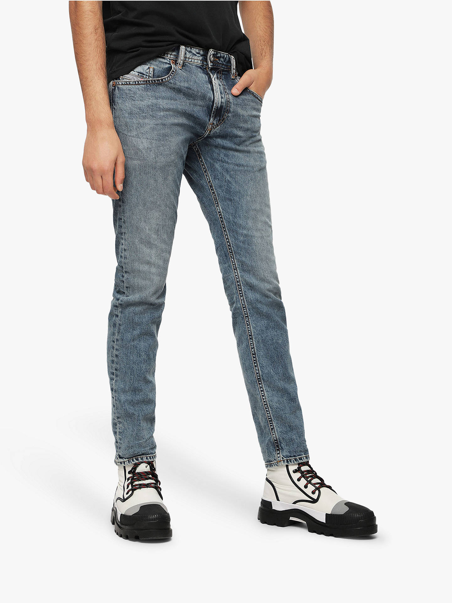f1098342 Buy Diesel Thommer Skinny Fit Stretch Jeans, Blue, 30R Online at  johnlewis.com ...