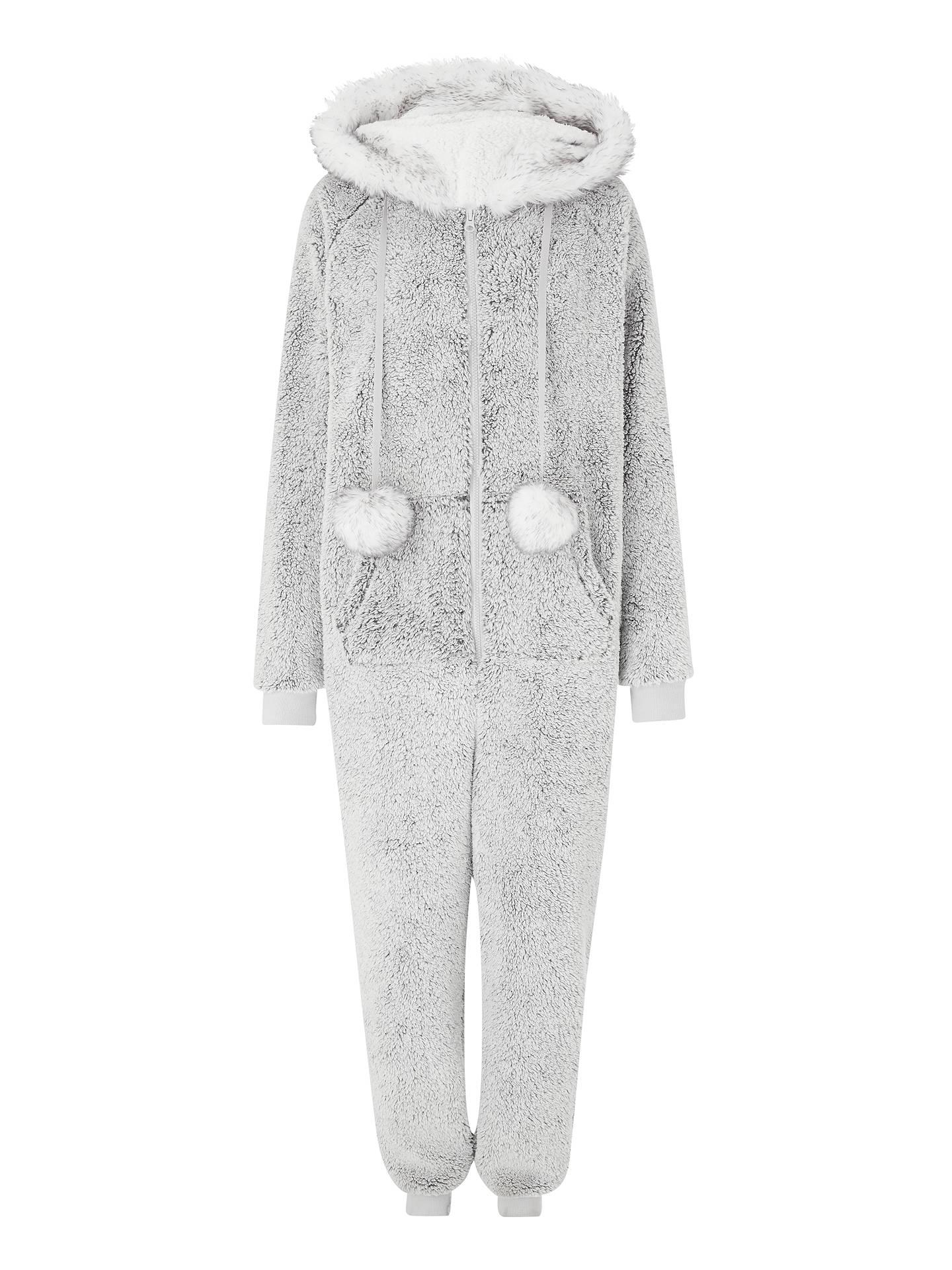 c7541565d2bc John Lewis   Partners Pom Pom Faux Fur Fleece Onesie