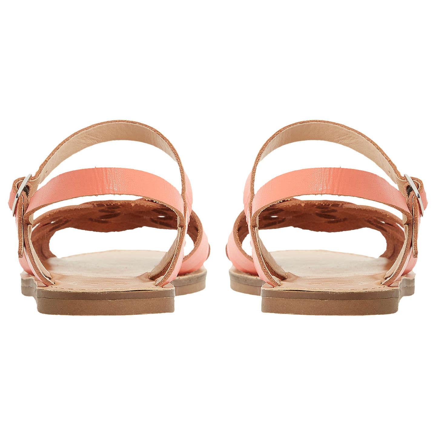 BuyDune Lattice Flat Sandals, Bright Orange, 5 Online at johnlewis.com
