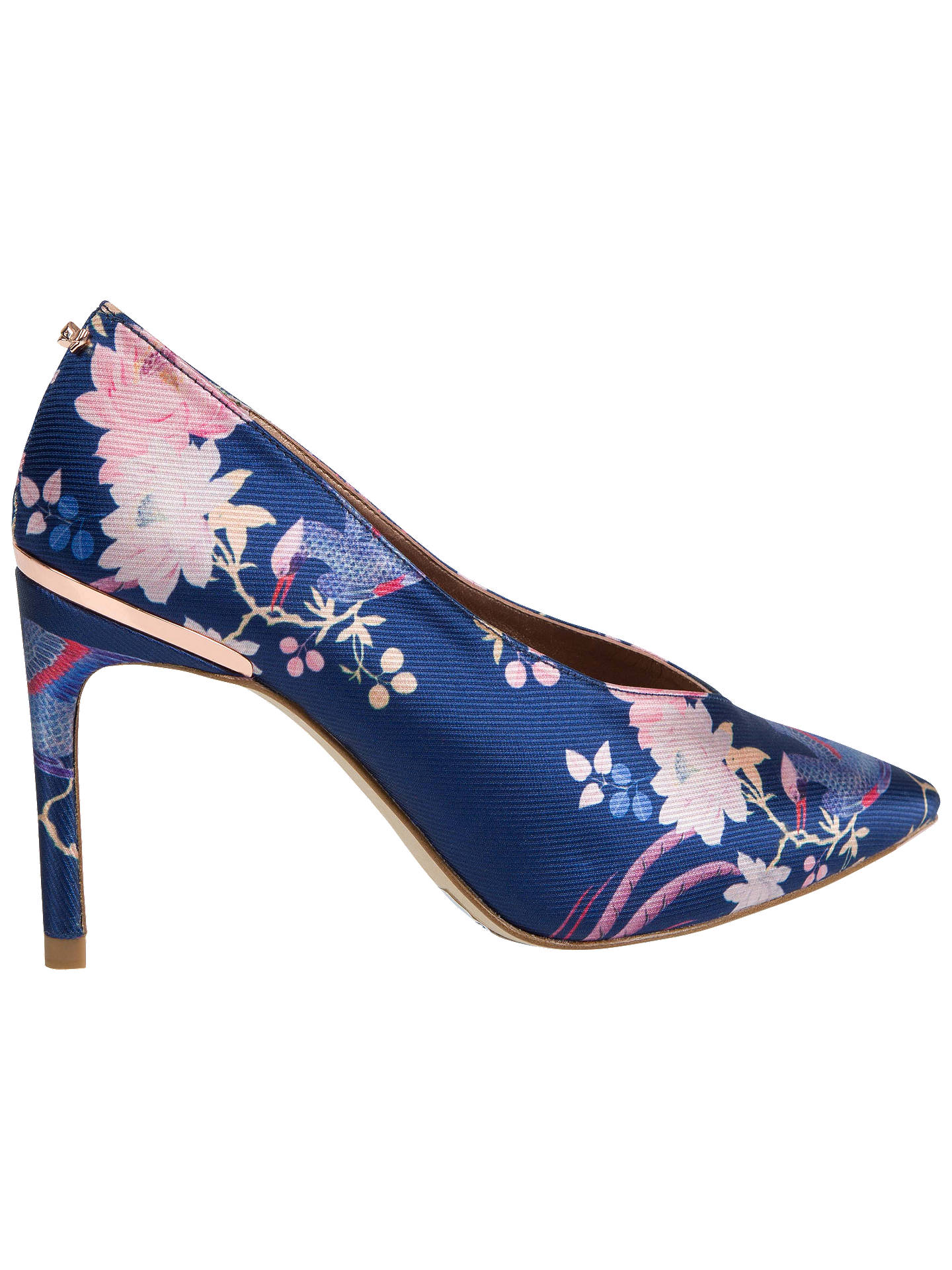 BuyTed Baker Jazimn Jacquard Court Shoes, Navy, 4 Online at johnlewis.com