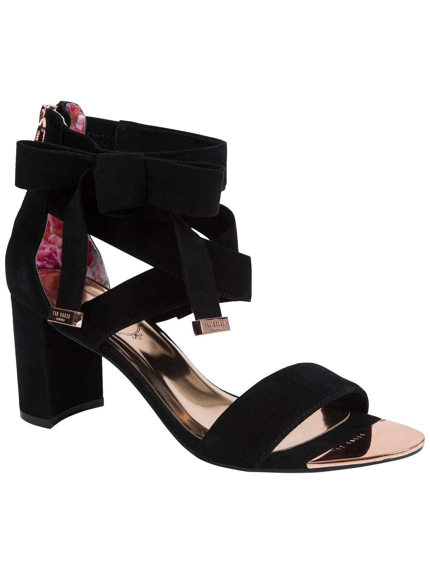 b6f863b33ffc Ted Baker Noxen 2 Cross Strap Bow Sandals at John Lewis   Partners