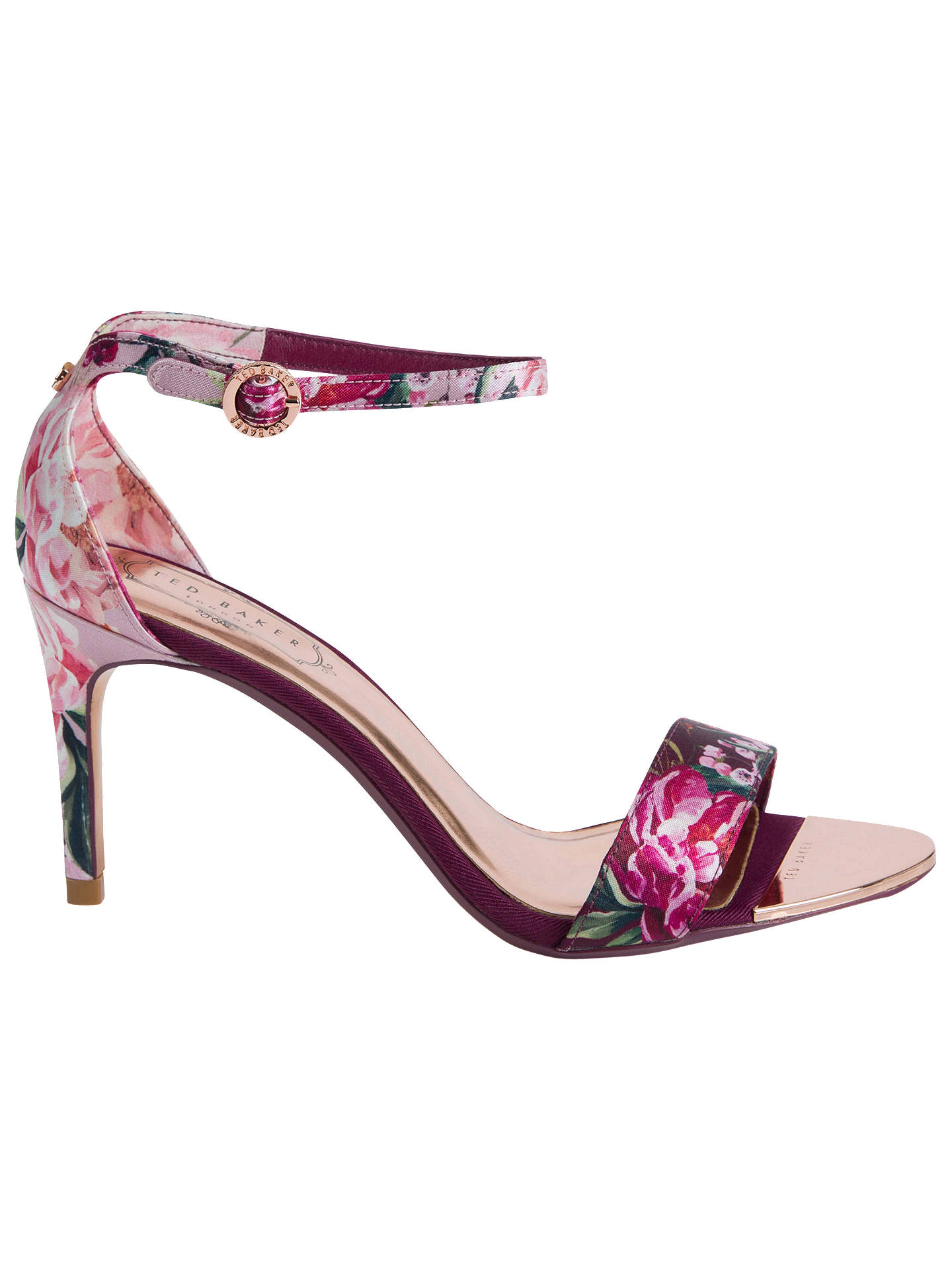 066a8a97070425 Ted Baker Mylli Ankle Strap Stiletto Heel Sandals at John Lewis ...