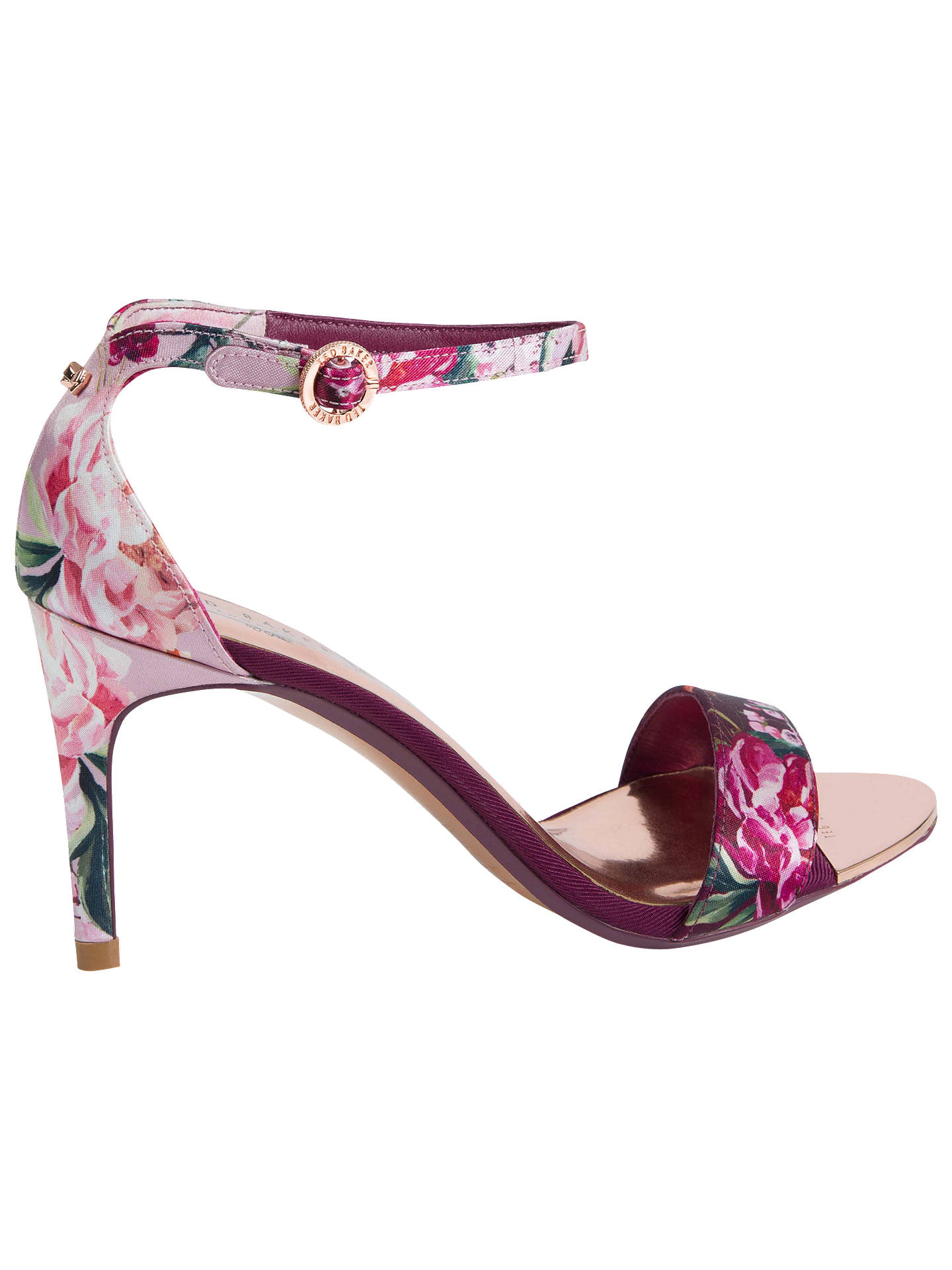 BuyTed Baker Mylli Ankle Strap Stiletto Heel Sandals, Pink Multi, 5 Online at johnlewis.com
