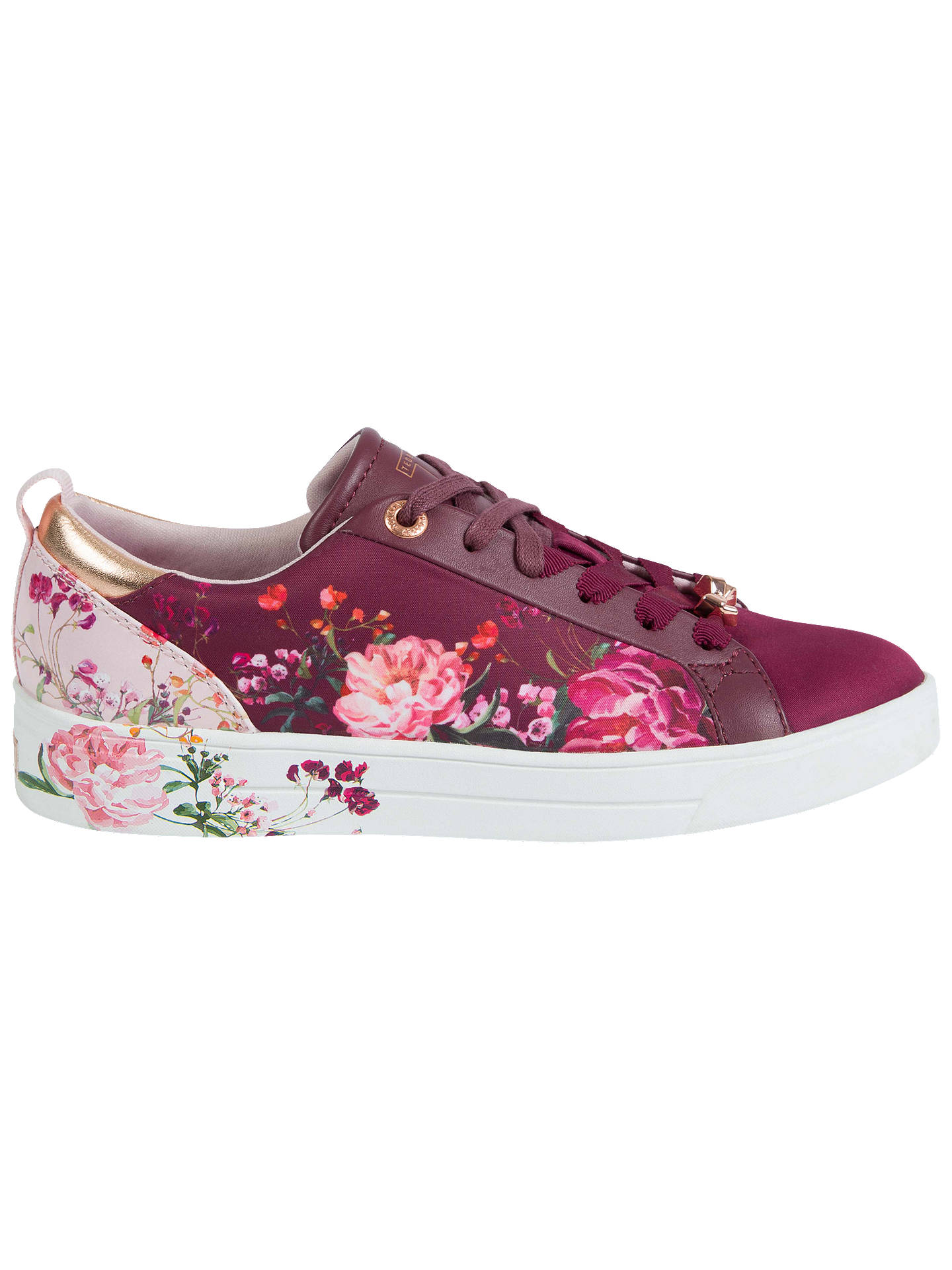 Buy Ted Baker Giellit Serenity Floral Lace Up Trainers, Multi, 3 Online at johnlewis.com