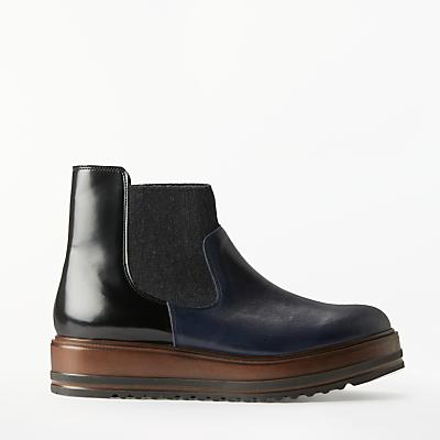 Kin Pandora Flatform Chelsea Boots, Navy Leather