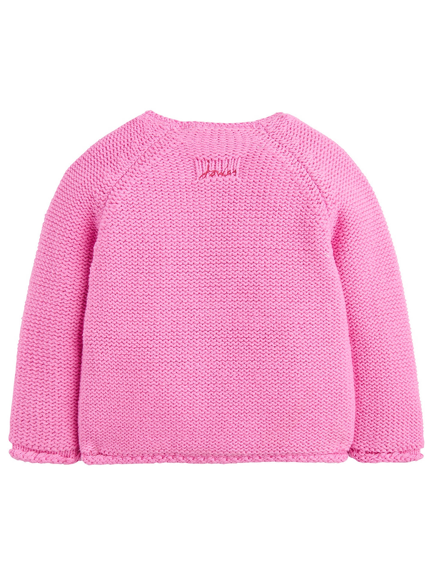 Buy Baby Joules Dorrie Mouse Cardigan, Pink, 0-3 months Online at johnlewis.com